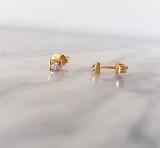 square diamond earrings